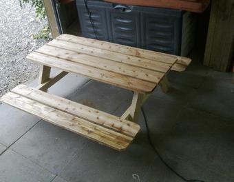 Kinderbank Mit Tisch Fur Draussen Holz Tisch Bank Sitzen Kindertisch Kinderbank Grilltisch Kinderbank Gartentisch Selber Bauen