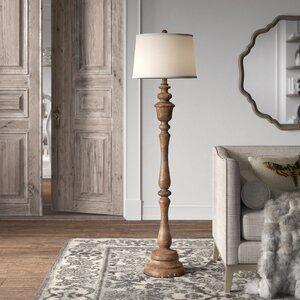 Haylie Wooden End Table In 2020 Column Floor Lamp Traditional Floor Lamps Floor Lamp