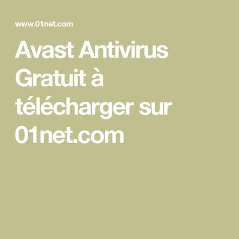 avast antivirus gratuitement telecharger