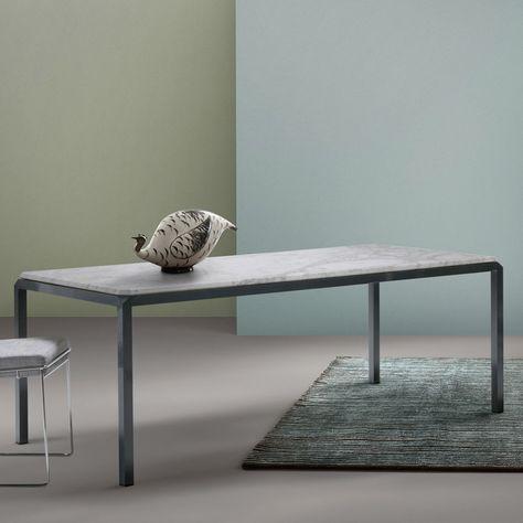 Tavolo In Marmo Bianco.Tavolo In Marmo Bianco Di Design My Home Bebop Tavolo Marmo
