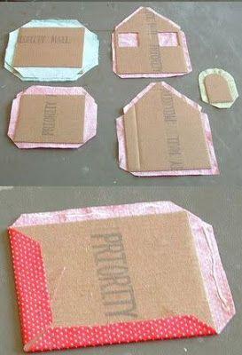 Bellart Atelier Passo A Passo Casinha Feita De Papel E Tecido
