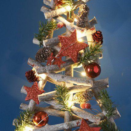 Pre Lit Floristry Christmas Tree 55cm Red Xmas B M Cheap Christmas Ornaments Christmas Decorations Online Cheap Christmas