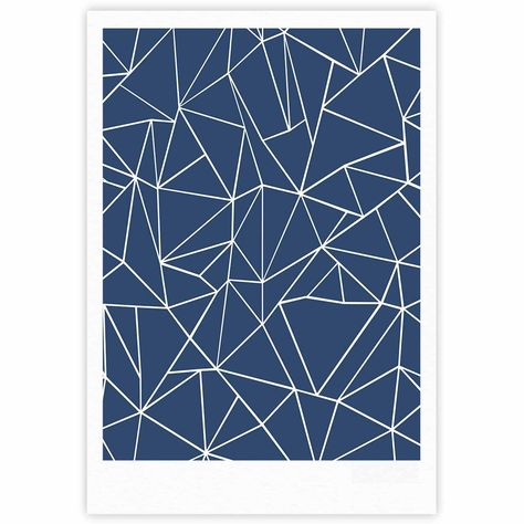 "Project M ""Abstraction Outline Navy"" Blue Abstract Fine Art Gallery Print"