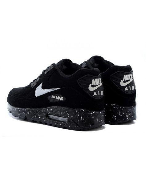 a5d10ead8ea9 Sale Nike Air Max 90 Mens Black Shoes Online UK 1014