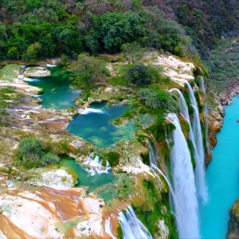 Welcome to Mexico's secret waterfall paradise. #beautifulplaces