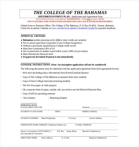 payment plan agreement template free word pdf documents sample - noc format for passport