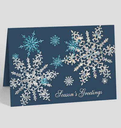 The Gallery Collection Christmas Cards.Midnight Snowflake Sparkle Holiday Card Stampin Holiday