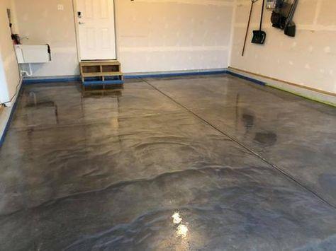 A Rocksolid Metallic Garage Floor Coating Project Garage Floor