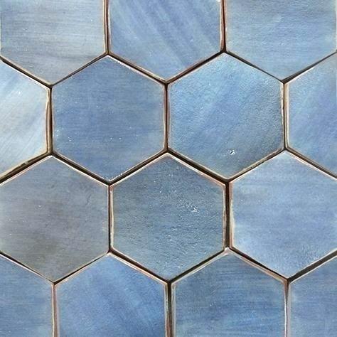 Blue Hexagon Tile Hex Navy Bathroom And Bath Cement Dark