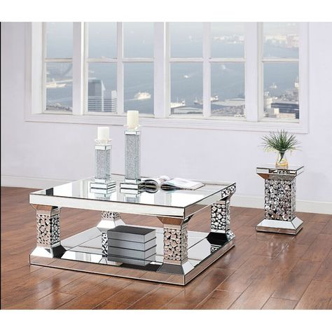 Velasco Coffee Table Mirrored Coffee Tables Living Room Table