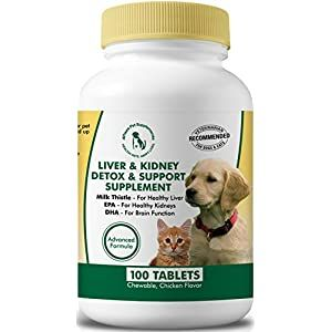 Milk Thistle Liver Kidney Supplement For Dogs And Cats With Dha Epa Silymarin And Vi In 2020 Chicken Flavors Kidney Supplements Milk Thistle