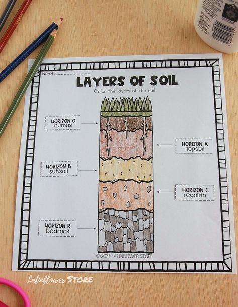 Soil worksheet #interactivenotebook #soil #worksheet #latinflowerstore Science Lessons, Teaching Science, Science Projects, Science Experiments, Ag Science, Earth Science Activities, Kindergarten Science, Third Grade Science, Middle School Science