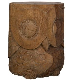 Owl Stool Munggur Owl Stool Wood Art