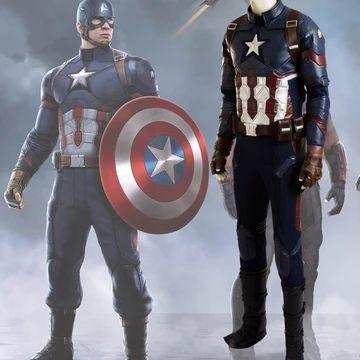New Captain America Helmet Cosplay Guerre Civile Steven Rogers Casque PVC Masque Props
