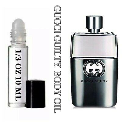 Ad Gucci Guilty Men S Oil Perfume Roll On Roller Body Fragrance 10ml 1 3 Oz Mens Oil Perfume Fragrances Perfume