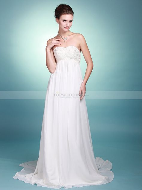 strapless empire bridal gown with embroidered bodice 0113852
