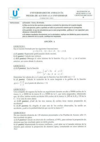 Exámenes De Pevau De Matemáticas Aplicadas A Las Ciencias Sociales De Andalucía Descargar Ex Exámen De Matemáticas Matematicas Aplicadas Ciencias Sociales