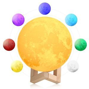 Moon Lamp Night Light Lunar Touch 3d Printed Globe Led Desk Lantern Kids Bedroom Light Decorations Lamp Kids Room
