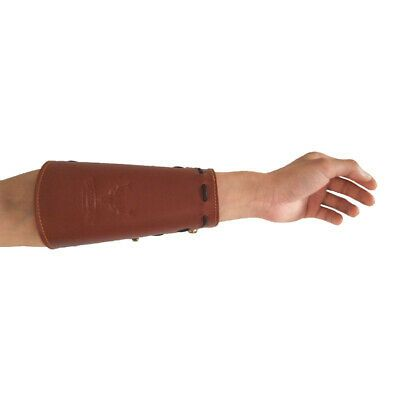 Cow Leather Arm Guard Hand Protective Glove for Recurve Compound Long Bow