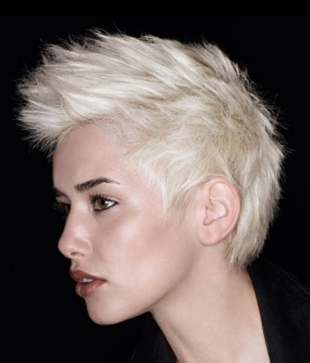 Pin By Bc On Short Hair White Blonde Hair Mohawk Hairstyles For Women Mohawk Hairstyles