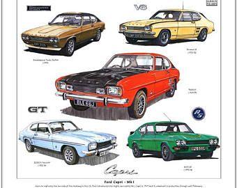 Ford Capri Mk1 Fine Art Print 2000gt 3000gt Perana V8 Rs3100 Broadspeed Bullit With Images Ford Capri Ford Classic Cars American Classic Cars