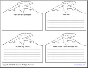 V is for Volcano Worksheet | Volcanoes | Pinterest | Volcano ...
