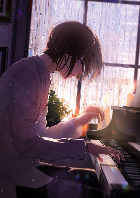 by まかろんK #anime #art #background.. | Fluffy Anime
