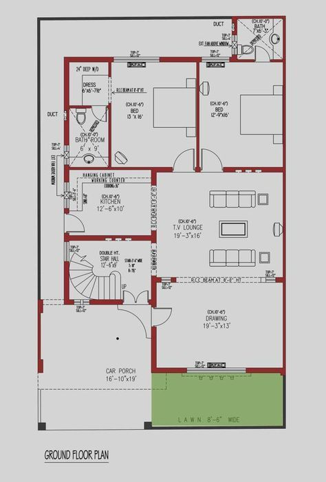 House Floor Plan By 360 Design Estate 10 Marla House Plan Small House Design Plans House Layout Plans