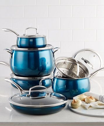 Aluminum 11-Pc  Cookware Set, Created for Macy's | Apartment
