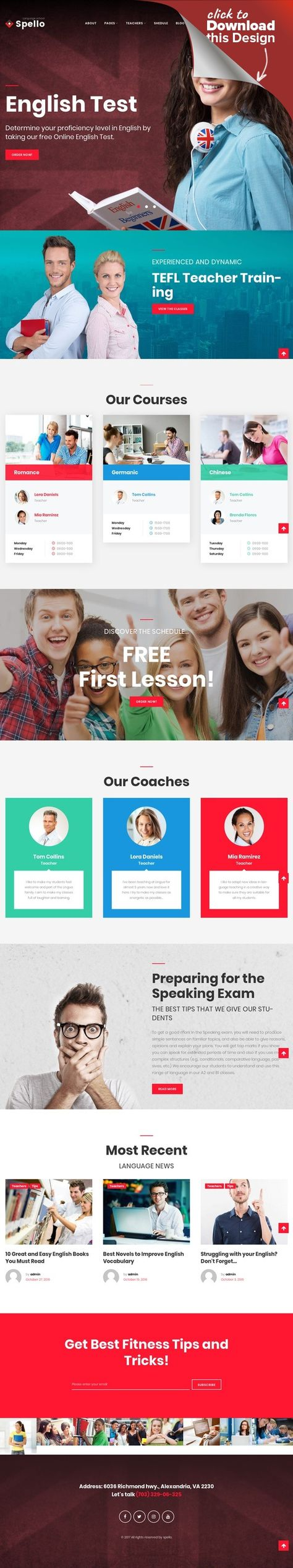 Tema de WordPress para Sitio de Escuelas de idiomas