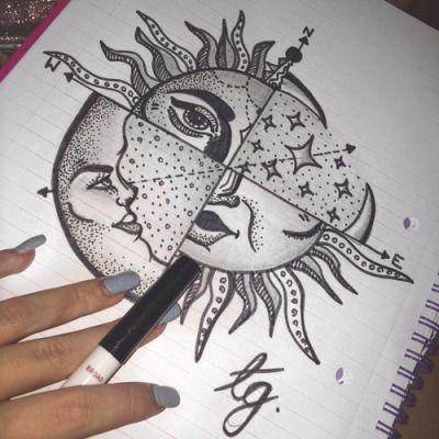 Sun Drawing Tattoo Tumblr Desenhos A Lapis Desenhos Psicodelicos