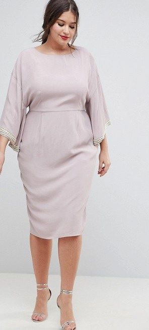 40 Plus Size Spring Wedding Guest Dresses {with Sleeves | Plus Size ...