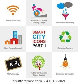 Smart City Icons City Icon Stock Images Free Shutterstock