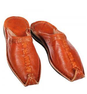 Orientalische Schuhe Aladdin Gelb Marokkanische Babouche Leder Pantoffel Marokko