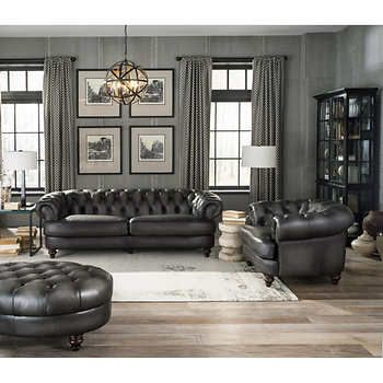 Leather Couch Set Ovalmag Com In 2020 Leather Living Room Set Living Room Leather Top Grain Leather Sofa