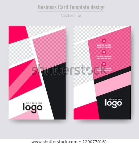 Vertical Business Card Abstract Background Vector Illustration