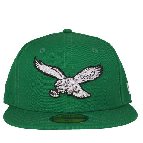 800031dc Philadelphia Eagles Retro Logo Kelly Green Fitted Cap | Products ...