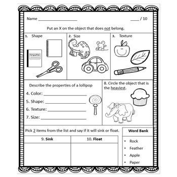 Properties Of Matter Bundle Worksheets Sorts And Tests