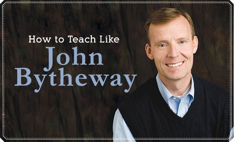 Famed LDS author and speaker John Bytheway shares the secrets to his teaching style. Learn how he does what he does--and start teaching like Brother Bytheway yourself.