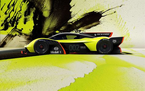 Download Wallpapers Aston Martin Valkyrie 2018 4k Side View