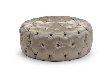 Tufted Upholstered Pouf Pouf Capitonne Pouf By Domingo Salotti