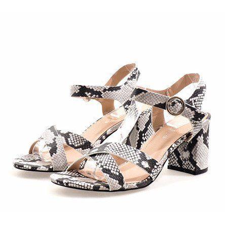 Sandaly Damskie Butymodne Wezowe Sandaly Na Slupku Zamsz X 116 Women Shoes Womens Sandals Sandals