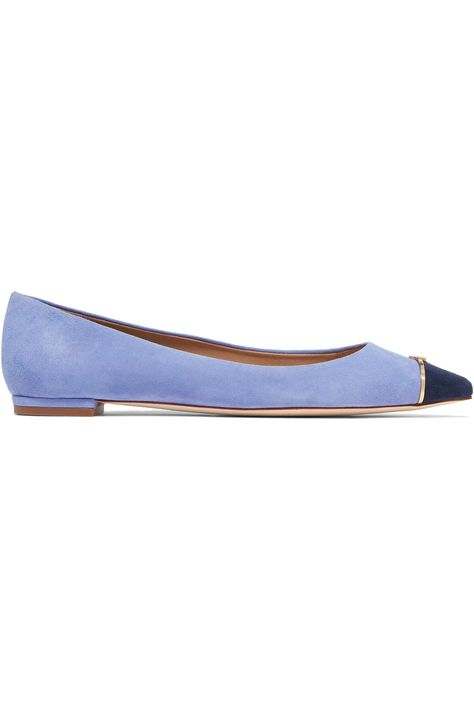 b035051e6cb TORY BURCH Lancaster embellished suede point-toe flats.  toryburch  shoes   flats