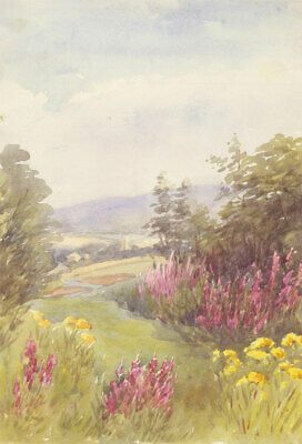 Englisch Schule Anfang Des 20 Jahrhunderts Aquarell Landschaft