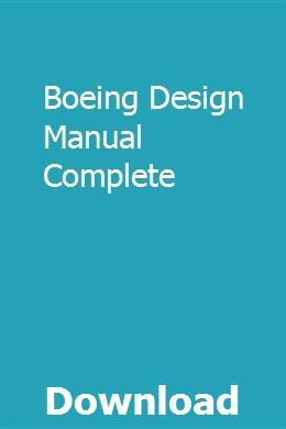 Boeing Design Manual Complete | nondiffcecess | Boeing 747