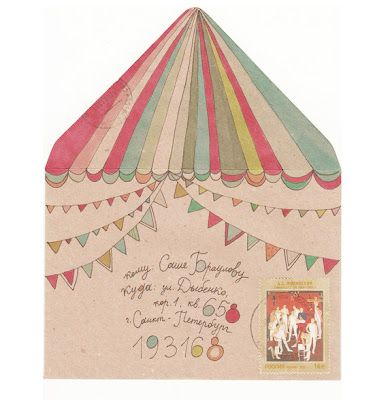 ringo55:    circus+mail+art+1.jpg | Hikari note... would be so happy to get this in the post!