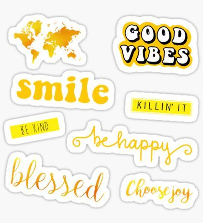 Yellow Stickers Tumblr Stickers Iphone Case Stickers Aesthetic