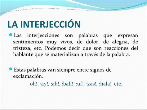 36 Ideas De 3 Interjecciones En 2021 Ortografía Gramática Ortografia Española