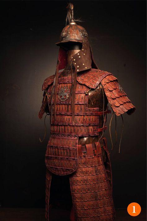 Medieval Mongol Leather FULL Armor Kit Armor Costume tatar | Etsy
