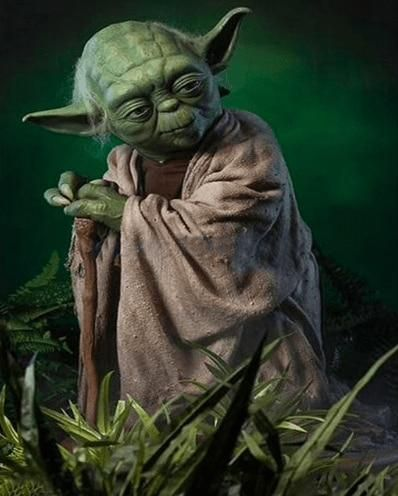 Yoda, Round 35x55cm